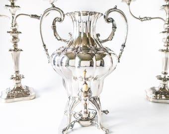 Antique Ornate Silver Plate Samovar Urn Coffee Dispenser Barbour Silver Co