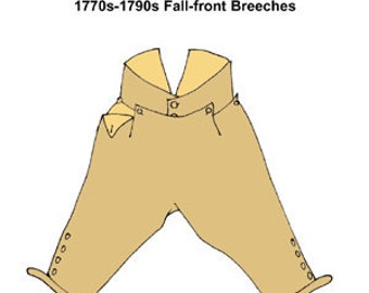 1770s-1790s Fall-Front Breeches Pattern