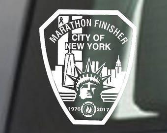 2017 any year New York City NYC Marathon NYMD Decal iPad,Luggage, Car Window