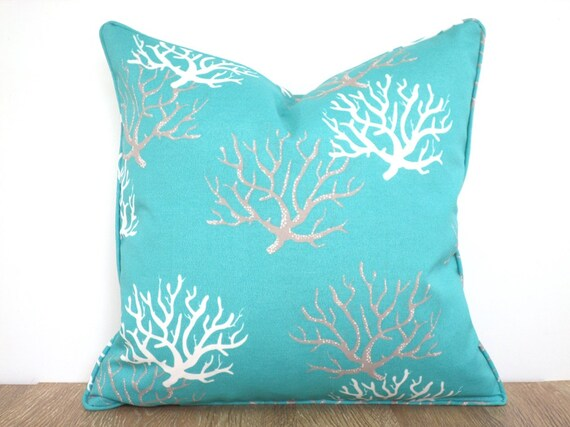 o products i collections outdoor pillow pillows aqua bamboo product decor home dorado coral indoor large wear resort