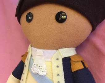 George Washington Hamilton Musical Fleece Plush Doll