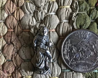 Thai Monkey King Pewter Amulet