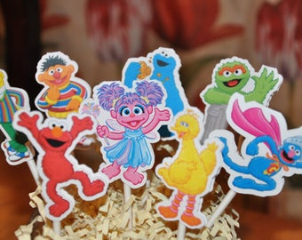 Sesame Street Cupcake Toppers Set of 12
