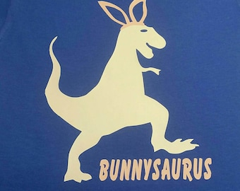 Fun Easter shirt for your little guy! Bunnysaurus