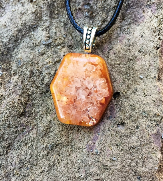 Weightloss Orgone Energy Charm- Earth Energy Orgone Pendtant- Grounding Energy- Himalayan Salt Orgone Necklace-Cleansing & Stress Relief
