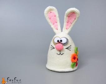 Stuffed bunny art toy Plush March hare Spring decor OOAK bunny doll Easter gift Plush rabbit Easter decor Easter decoration Stuffed animals