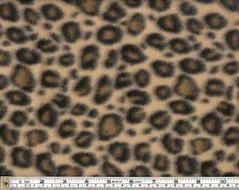 Leopard Design Polar Fleece Fabric by the yard