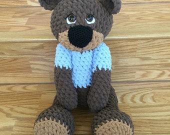 Teddy/ Teddy Bear/Large Stuffed Teddy Bear/ Stuffed Animal/ Giant Stuffed Animal/ Plush / Handmade / Artist