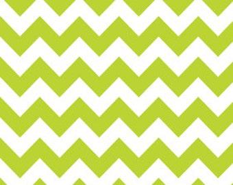 Riley Blake Chevron Lime Fabric, 1 yard
