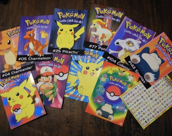 11 Pokémon anime postcards greetingcards