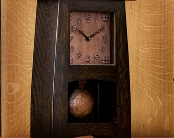 Craftsman / Mission / Arts & Crafts Mantel Clock / Buckeye #9