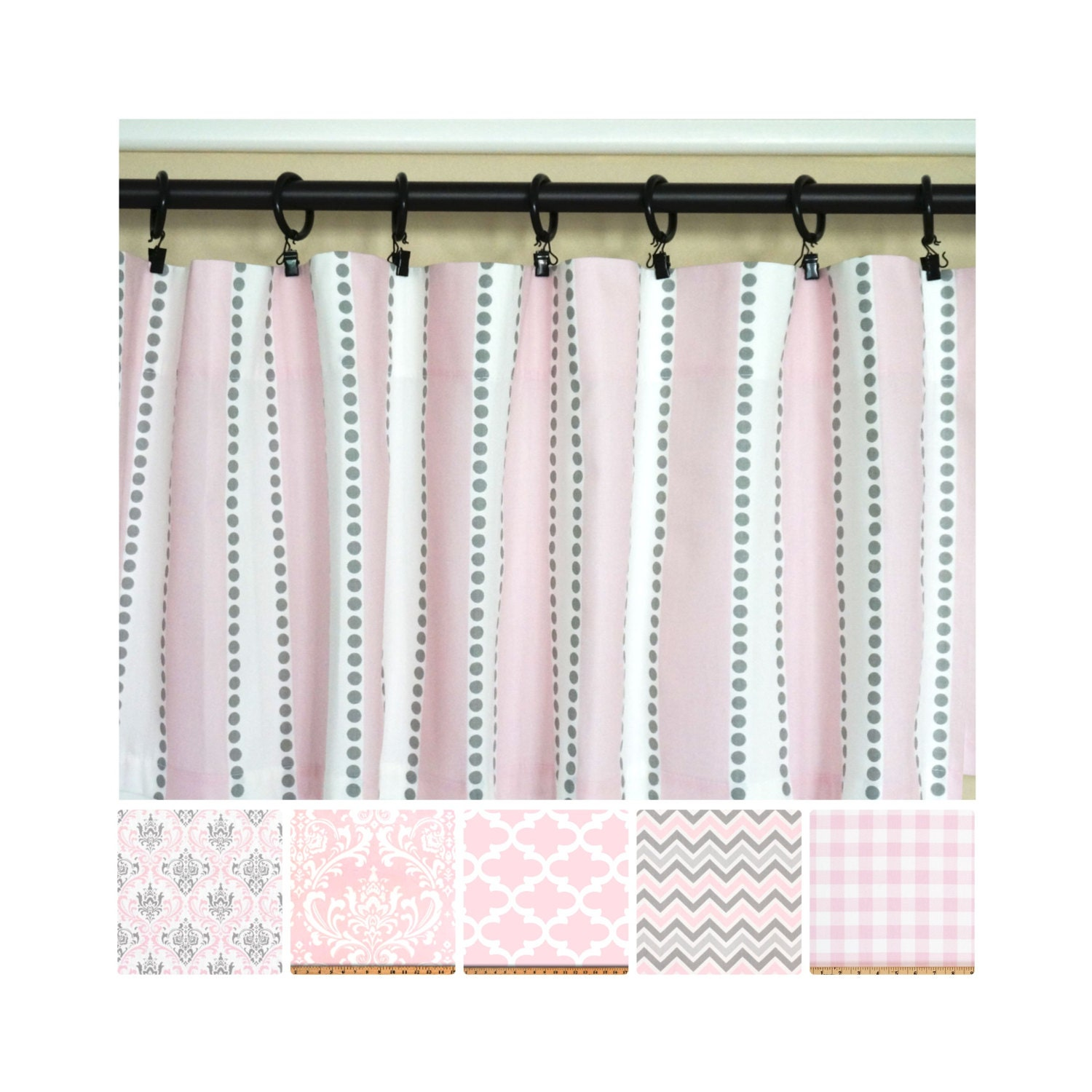 Pink Grey Curtains Light Pink Window Curtains Kitchen