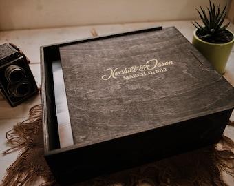 Custom - 13x13x1.5 Wood Album Box (NO area for USB)