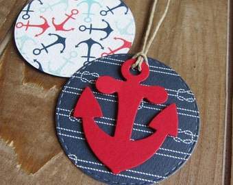 Nautical Tags/Anchor Tags/Baby Shower Tags