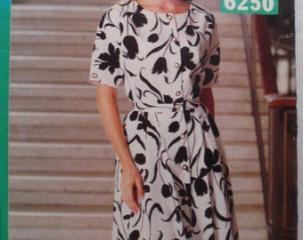 Easy See and Sew Button Front Top and Skirt Sewing Pattern - Butterick 6250 - Sizes 18-20-22, Bust 40-42-44, Uncut