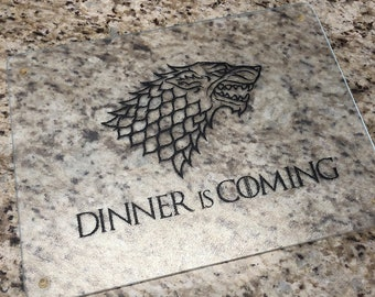 Game of Thrones Diner is Coming Vinyl Decal - TV Show Decal -  Breaking Bad, The Walking Dead, Zelda, Harry Potter - Cutting Board Decal