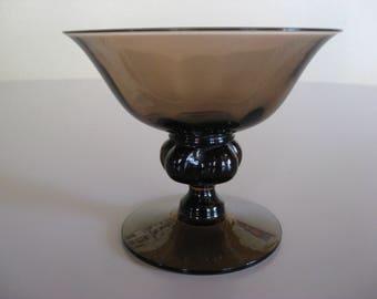 Jacob E. Bang VIOL Champagne bowls from Holmegaard Glass Denmark. Mid Century Modern. Danish Glass design.