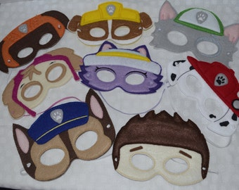 Paw Patrol Inspired mask set ONLY BOYS