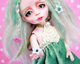 "Resin BJD doll ""Vesta"", 2 FACES!!! 14 cm, bjd doll, girl, bjd"