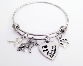 German Shepherd, German Shepherd Gift, German Shepherd Jewelry, German Shepherd Bracelet, German Shepherd Mom, German Shepherd Lover Gift, T