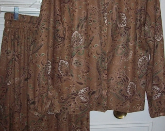 Dress 10, Two Piece Dress,  Howard Wolf Paisley Two Piece  Cocoa Dress Size 10 See details
