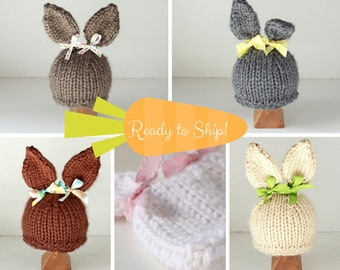 Easter bunny hat costume for Baby Bunny in newborn hat photo prop
