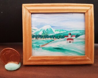 Miniature paintings, Winter landscape