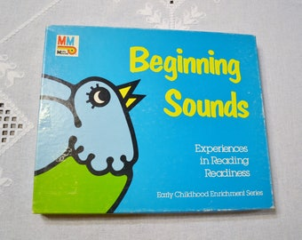 Vintage Beginning Sounds Childrens Learning Game Flash Cards Media Materials PanchosPorch