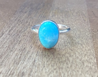 Turquoise Stacker Ring- Sterling Silver