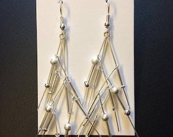 Silver 'Whisper Drop' earrings