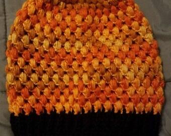 Orange ombre beanie