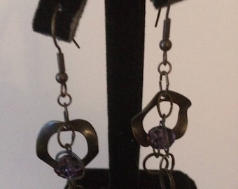 Purple Charm Earrings