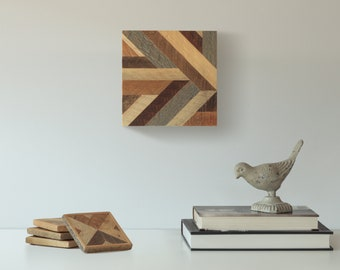 Reclaimed Wood Wall Art, Lath, Pattern, Decor, Geometric