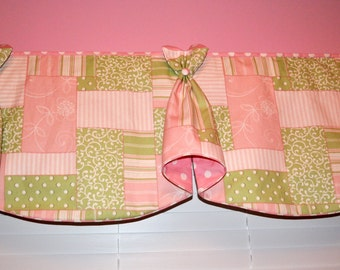 "Custom Window Valance BUNNY EARS Hidden Rod Pocket® Valance fits 87""- 106"" window, wide width, your fabrics, my LABOR and lining"