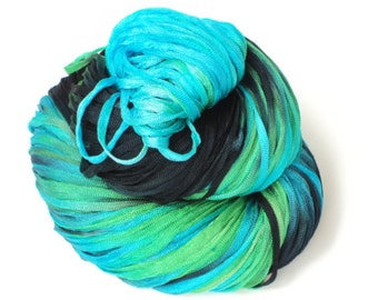 Tropix Hand Painted Ribbon Yarn 250 Yards