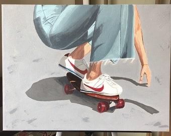 Vintage Skater Girl