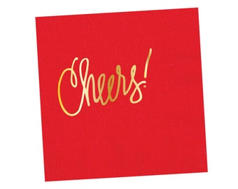 Napkins | Cheers - Red (in stock)