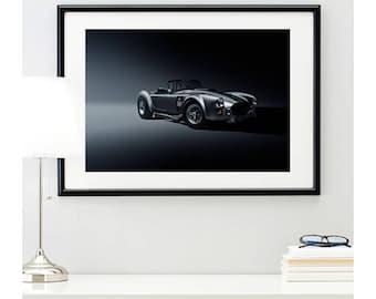 Shelby Cobra Front Angle, automotive photography, automotive prints, car photography, car prints, american muscle, @richardlephoto