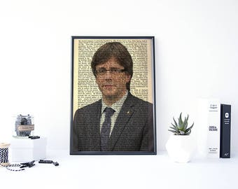 Carles Puigdemont Poster, Catalonia, Political Poster, Catalunya, Catalan Referendum, Catalonia Poster