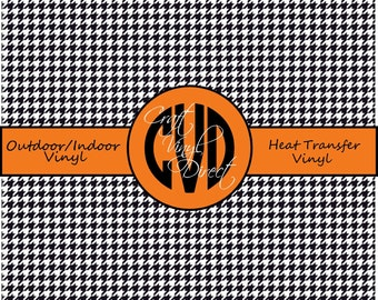 Beautiful Black and White Houndstooth Patterned Craft Vinyl and Heat Transfer Vinyl in Pattern 432