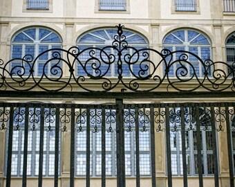 Italy photo - Florentine Palazzo Gate - Tuscany, Italy - Fine art travel photography - door art, window art, wrought iron