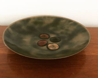 Large mid century Bovano enamelware display bowl