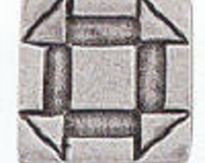 Quilt Button CHURNDASH Danforth pewter button