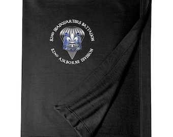 82nd Hqtrs & Hqtrs Battalion Embroidered Blanket-3524