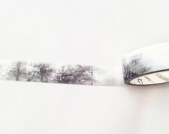Winter Washi Tape// Misty Forest Craft Tape// Masking Tape