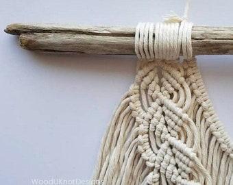 "Bulk Driftwood Macrame Rods - 6 Pieces 12-16 x .75"" Thick Driftwood Dowels - Macrame - Wall Hangings - Driftwood Mobiles"