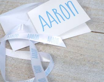 Custom Ribbon with Personalized Matching Card