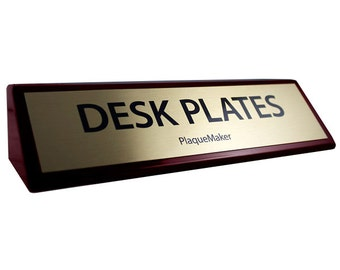 """Desk Name Plates - Rosewood Wedge 8"""" x 2"""""""
