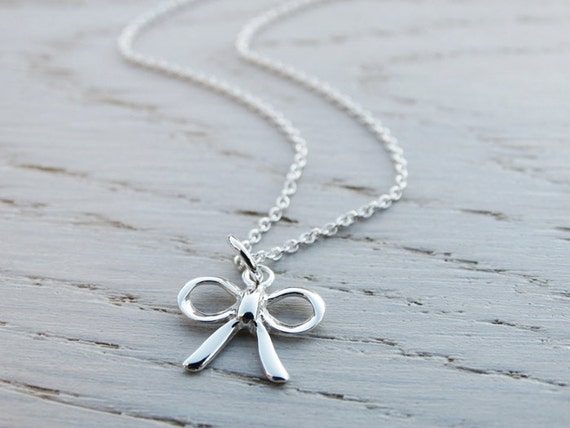 Silver Bow Necklace - Sterling Silver