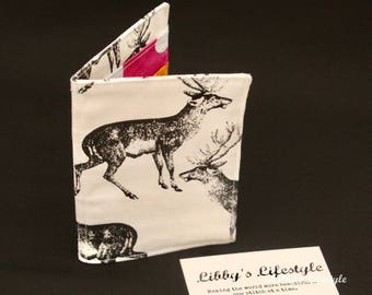 Deer credit card wallet - Business card holder - Handmade Credit card organiser - Business card pocket wallet - Card holder.